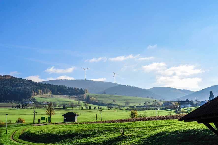 Oberharmersbach Blick vom Grünen Hof