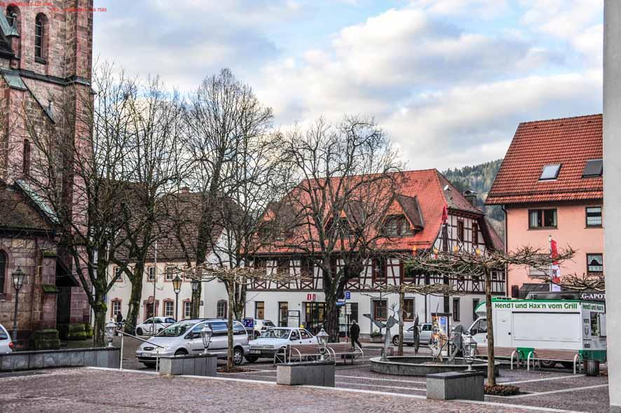 Hausach Blick vom Klosterplatz