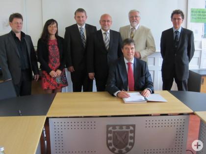 Energiepartnerschaft Vertragsunterzeichnung